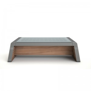 Outdoor Metal Park Bench Illuminazione a LED Energia solare